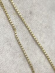 16 Italy Sterling Silver Gold Overlay 1mm Box Chain Link Necklace