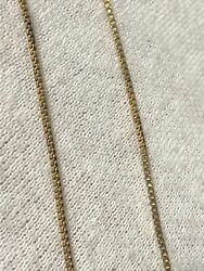 16 Sterling Silver Gold Overlay Box Chain Link Necklace 1mm