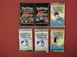 6- 1st Edition Pokemon Booster Packs Factory Sealed Unweighed- See Scans