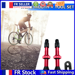 2pcs Presta Valve 54mm With Tool For Mtb Road Bike Tubeless Tires Red