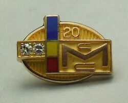 💎 Old Vtg. Mcculloch Motors Corp. Chainsaw/outboard 10k Employee Tie/lapel Pin