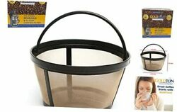 Reusable 8-12 Cup Basket Coffee Filter Fits Mr. Coffee Makers And 8/12 Cup