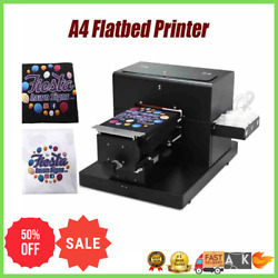 ✅a4 Flatbed Printer For T-shirt Card Pvcphone Case Multi Color Printing Machine