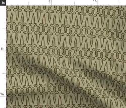 Daggers Knife Knives Sword Swords Medieval Spoonflower Fabric By The Yard