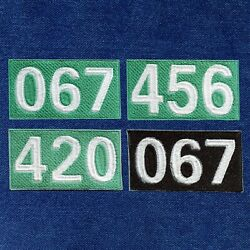 Squid Game Embroidered Iron On Patches Contestant Numbers Custom S Available