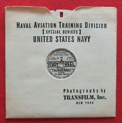 Wwii Usn View-master P-47 Thunderbolt Spotter Id Recognition S2 Study Reel