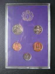 Nigeria 1973 Proof 5 Coin Set 1/2 - 25 Kobo In Plastic Case And Envelope