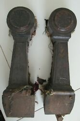 Carved Victorian Couch Settee Arms Salvage Repurpose  Set Of 2