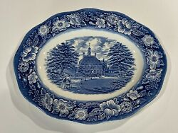 Vintage Platter Governors House Liberty Blue 12 X 9.5 England