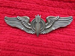 Ww2 Us Army Air Corps Aerial Gunner Full Size 3 Sterling Pinback Wings