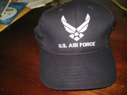 Us Air Force Hat Fitted Fits Many L To Xl Nice Military Collectiblewore 1x