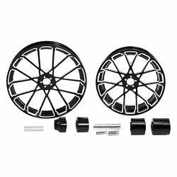 26 Front And 18and039and039 Rear Wheel Rim Hub Fit For Harley Touring Street Glide 08-21 19