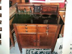 Vintage Dental Cabinet With Glass Top