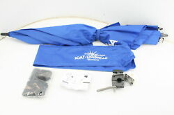 See Notes Magma Products Umbrella Boat Rail Mounted Blue 7/8 Or 1 Round Rail