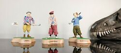 The Three Stooges Bobbleheads By Vandor Golf Set Of 3 Larry Moe Curly Rare