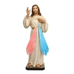 Jesus Divine Mercy Resin Statue Cm. 100 With Glass Eyes Made In Italy