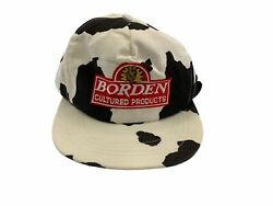 Vintage Borden Dairy Snapback Hat Cap Made In Usa Free Shipping