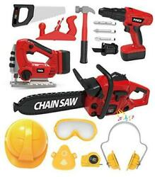 Kids Tool Set With Electric Toy Drill Chainsaw Jigsaw Toy Tools Realistic