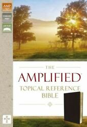 The Amplified Topical Reference Bible, Bonded Leather, Black By Zondervan...