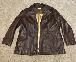 Wilson Leather Women's Soft Brown Leather Jacket Size 3xL $30.00