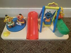 Sesame Street Illco Playground With Rolly Polly Weeble Wobble Vintage Jim Henson