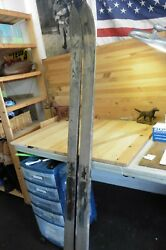 Vintage Snow Skis Slalom All Wood Thick Strong 2 1/2 X 1/2 X 64