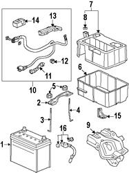 Genuine Acura 38920-tk4-a04   Sensor Assy. Part 16 On Picture