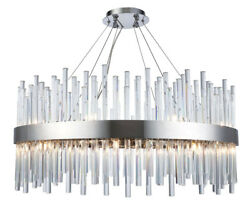 Quality Modern Foyer Dining Room Crystal Chandelier Ceiling Fixture 18 Light 32