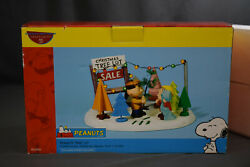 Dept. 56 Peanuts Tree Lot, 5659104, New Old Stock. Unopened Interior Packaging