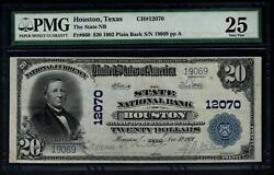 1902 20 State National Bank Of Houston Texas Pmg 25 Fr.660 Charter Ch12070