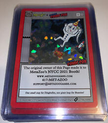 Metazoo X New York Comic Con Nycc 2021 Exclusive Holo Promo Card Limited 5000