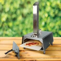 Outdoor Garden Pizza Oven Charcoal Wood Fired Portable Bbq Grill Smoker Cooking