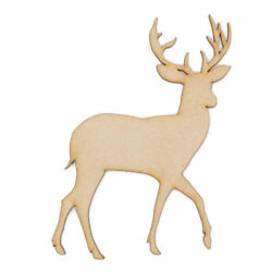 3mm Mdf Wooden Laser Cut Christmas Craft Shapes Various Sizes Reindeer Standing.