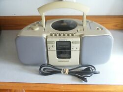 Vintage Sony Cfd-21 Cd Radio Cassette Recorder Boombox Mega Bass 1990's