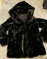 Lovely Ladies / Older Girls Fluffy Black Jacket Size Small New Without Tag