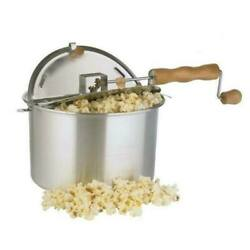 Wabash Valley Farms 6 Quart Whirley Pop 3-minute Popcorn Popper Free Shipping