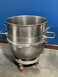 Hobart V140 140 Quart Stainless Steel Mixer Bowl V1401 With Bowl Dolly And Ring