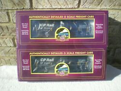 Sealed 2-pack Mth Premier Canadian Pacific Cp Rail Funnel Flow Tank Car  New