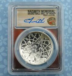 2020 Pcgs Pr 70 D-cam Basketball Hall Of Fame Silver 1 Grant Hill Autographed