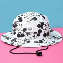 Opening Ceremony X New Era Micky Mouse Black And White Bucket Hat Sz Small Medium