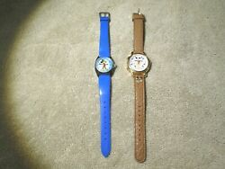 Vintage Mickey Mouse Watches-1 Musical-2 Songs And And 1 Rare Wind Up