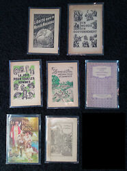 Watchtower Lot Of 7 French Booklets Rutherford Jf Jehovah Ibsa Bible Students