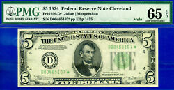 Top Pop 2/0 Combined - 1934 5 Frn Cleveland - Star Pmg 65epq D00465107