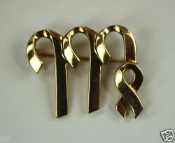 Vintage And Co. Picasso 18k Yellow Gold Pin From Signs Collection Virgo