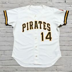 Vintage 90s Pittsburgh Pirates Baseball Jersey Authentic Sewn Game Worn Used