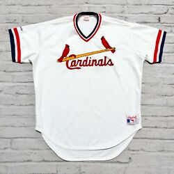 Vintage 90s St Louis Cardinals Baseball Jersey Authentic Sewn Pro Cut Rawlings