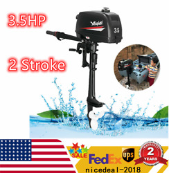 3.5hp 2 Stroke Outboard Motor Boat Engine W/water Cooling Heavy Duty And Tool Bag