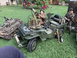 16 Willys Jeep Us Army Metal 1/4 Ton 4x4 Go Truck