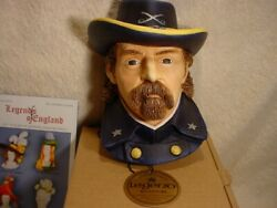 Legends Col Custer 77 England Wall Mask F Wright Bossons Chalkware Nos Last One