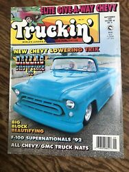 Truckin#x27; Magazine Sept 1992 Lowering Tips Chevy Nats Great Vintage Articles